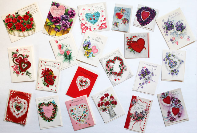 vintage valentines for friends