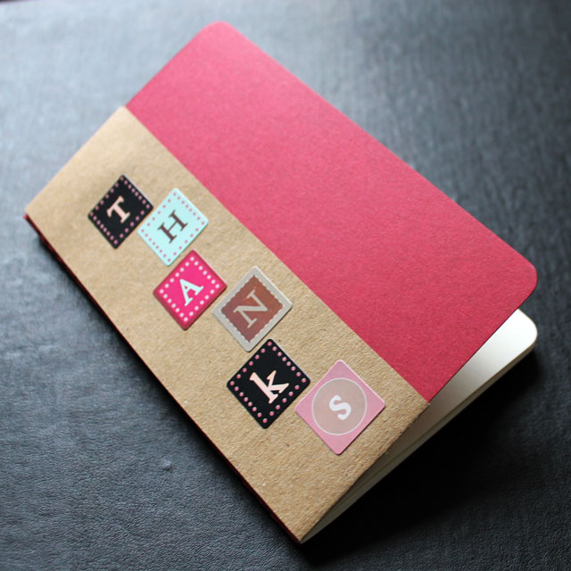 diy moleskine notebook bookmark sleeve greeting card