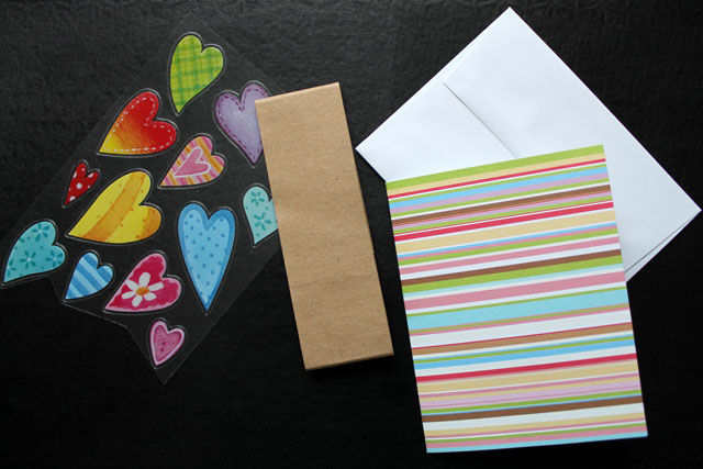 quick greeting card diy supplie