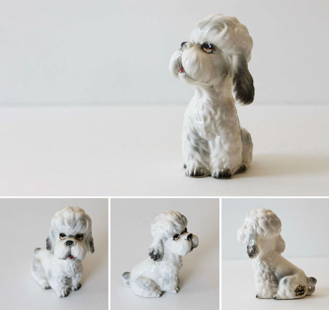 thrifted vintage giftcraft dog figurine