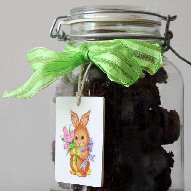 easter gift homemade chocolate macaroons
