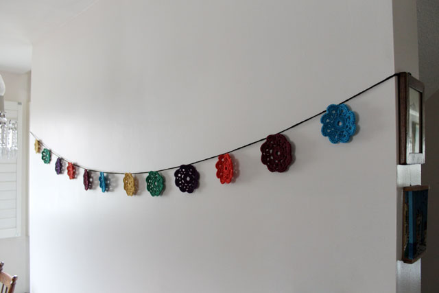 crocheted maybelle flower garland
