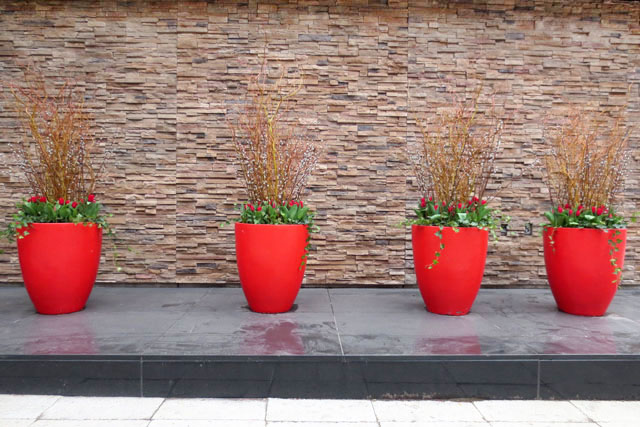 four-red-planters