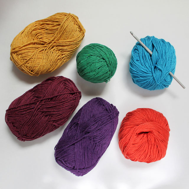 yarn for maybelle flower garland