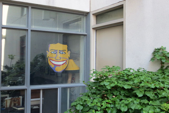 face-in-a-window