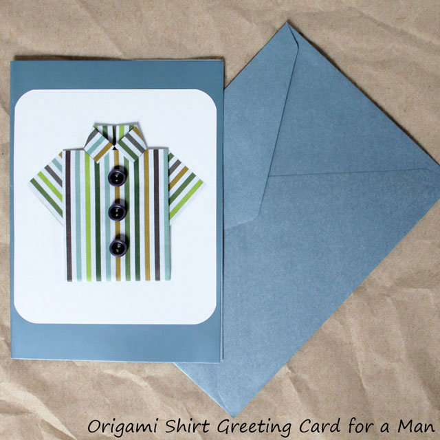 Handmade Fathers Day Card Origami Shirt