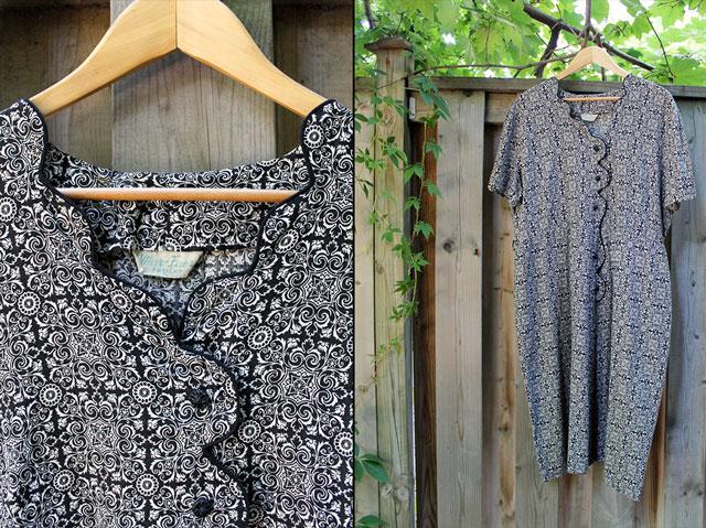1940s dress bought at jack lux vintage pop up store toronto