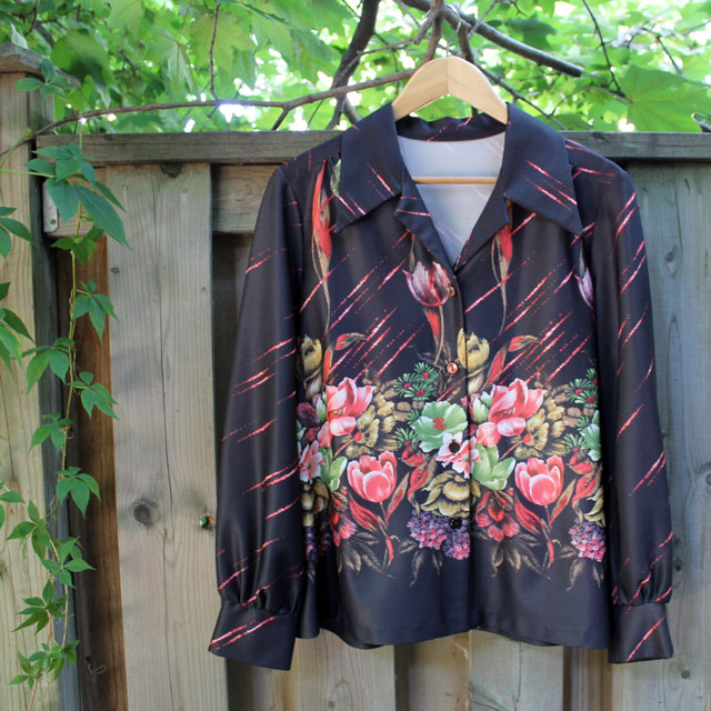 crimplene polyester shirt 1970s from jack lux vintage pop up toronto