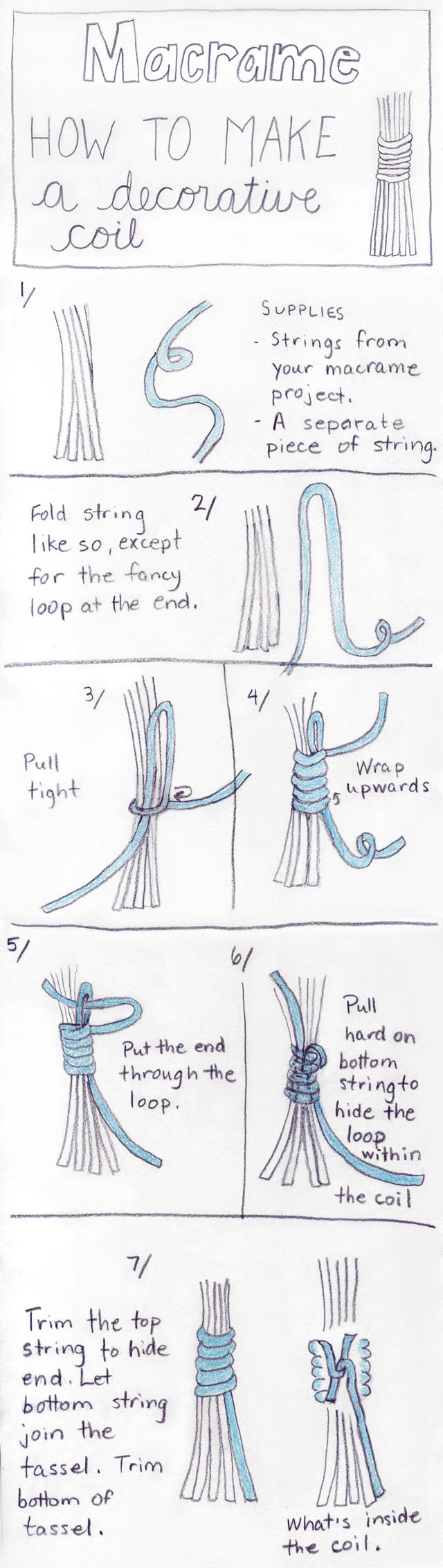 diy macrame how-to-make-a-decorative-coil-in-macrame-tassel-loulou-downtown