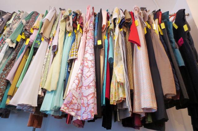 dresses at jack lux vintage pop up shop toronto