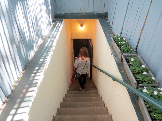 julie-on-stairs