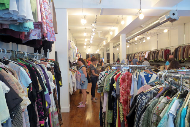 shopping at jack lux vintage pop up store toronto 03
