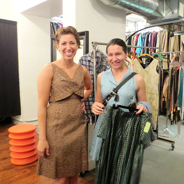 shopping at jack lux vintage pop up store toronto
