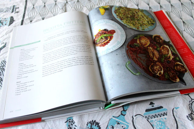 making-jamie-oliver-ricotta-fritters-and-zucchini-salad