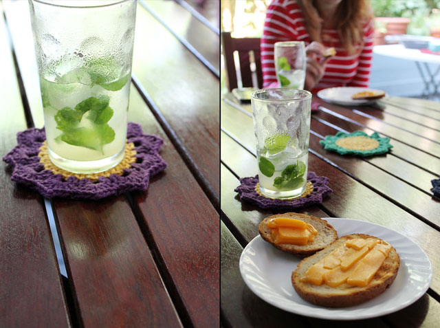 mojitos and bbq cheese toast