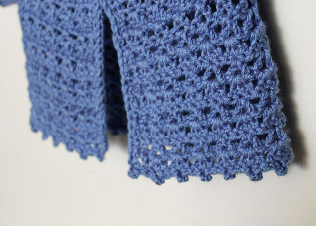 picot edging on crocheted baby sweater
