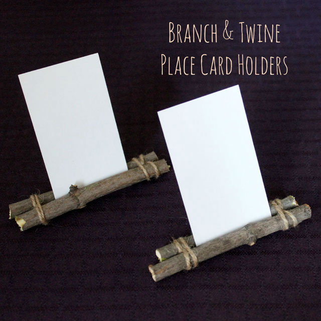 Diy Place Card Holders Branch And Twine Easy Handmade Menu