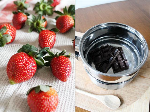 making-chocolate-dip-strawberries
