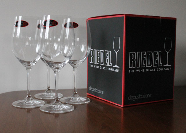 riedel red wine glasses 15th anniversary crystal