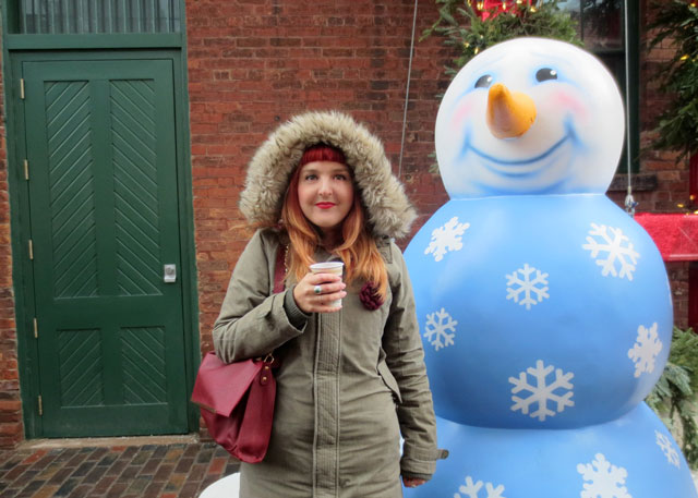 andrea and snowman