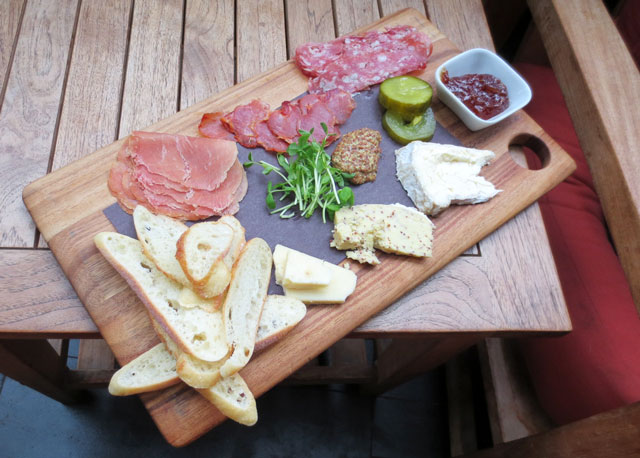 charcuterie platter at mill street pub distillery district