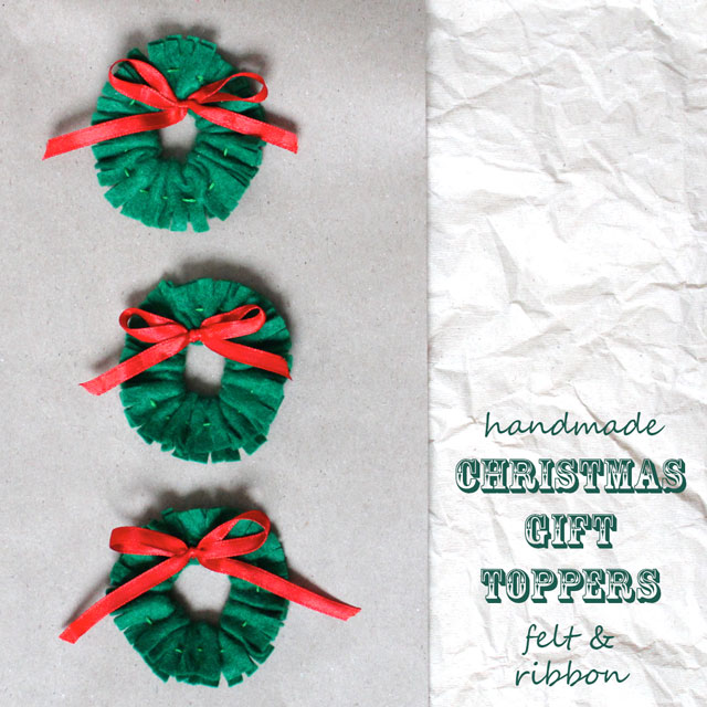christmas-gift-toppers-small-wreaths-made-with-felt-and-ribbon