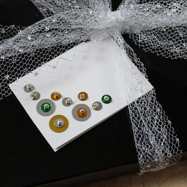 handmade gift card sequins and beads diy