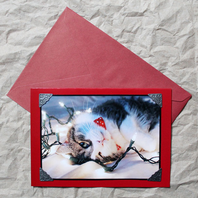 making christmas cards from your own photographs diy handmade