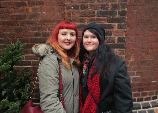 me and andrea at christmas market