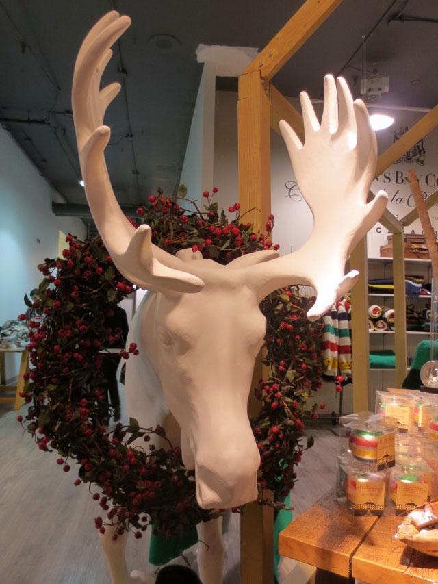 moose christmas decoration the bay toronto downtown 2014