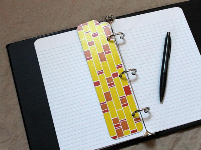 handmade-divider-for-planner-daytimer-a5-made-from-repurposed-tissue-box-reversable