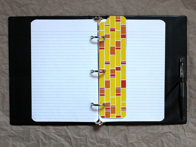 handmade-divider-for-planner-Daytimer-Filofax-a5-made-from-repurposed-tissue-box