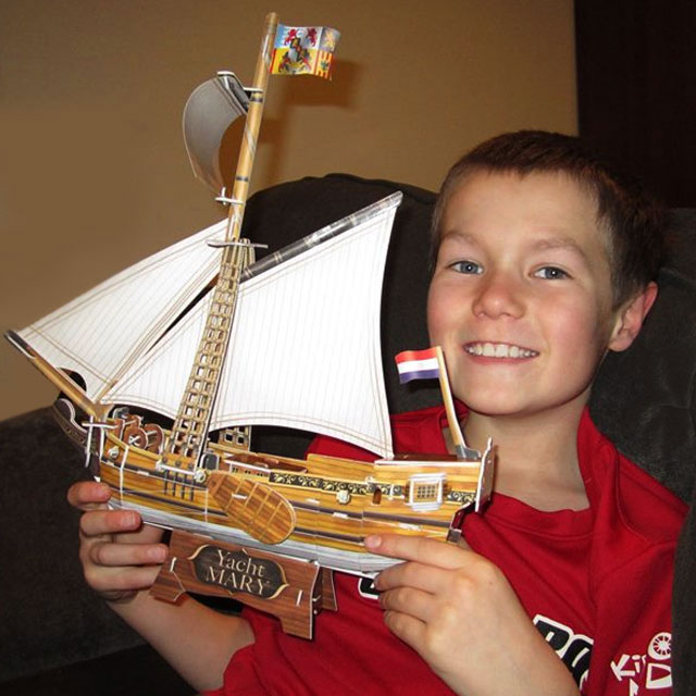 o and his boat 3d puzzle