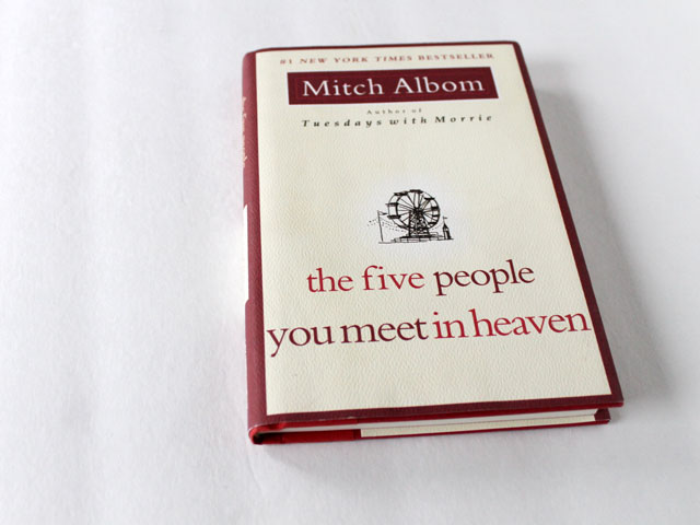 thrifted book the five people you meet in heaven by mitch albom