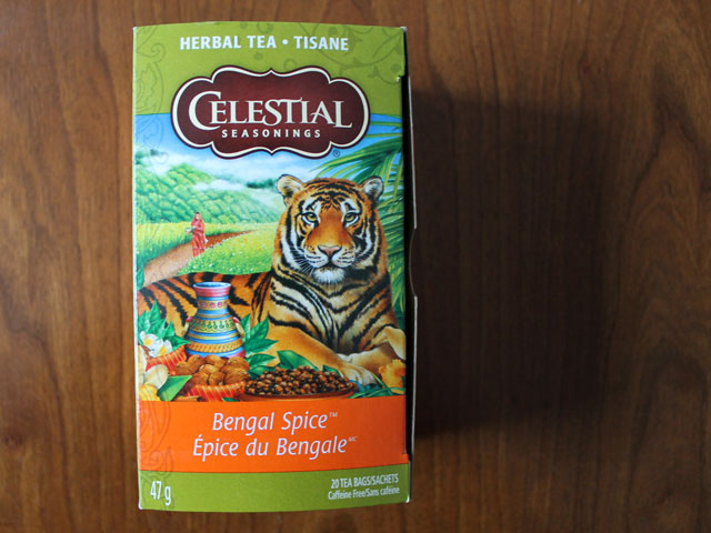 celestial seasonings bengal spice tea naturally caffeine free herbal tea