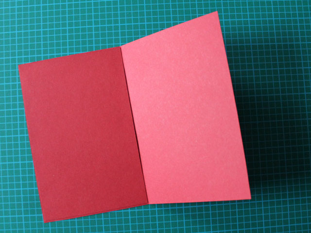 cover back mess with another piece of paper making handmade valentine