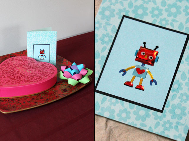 handmade card and gift bow