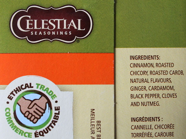 ingredients in celestial seasonings bengal spice tea