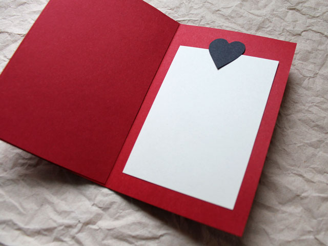A Handmade Valentine Card  Red Black and the Printed Word