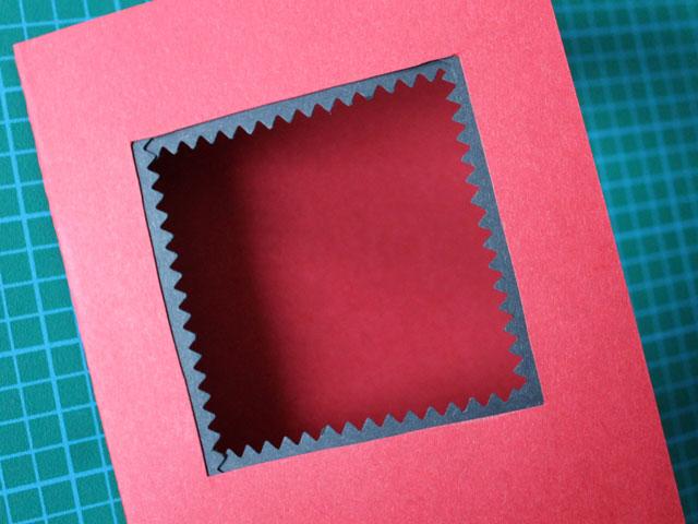 stick frame around edge of square valentine diy