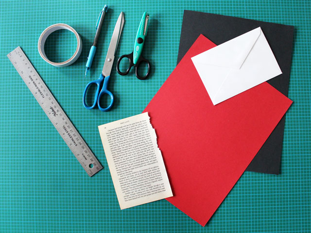 supplies for making a valentine card
