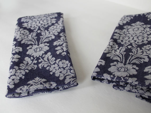 thrifted cotton demin jacquard napkins 2
