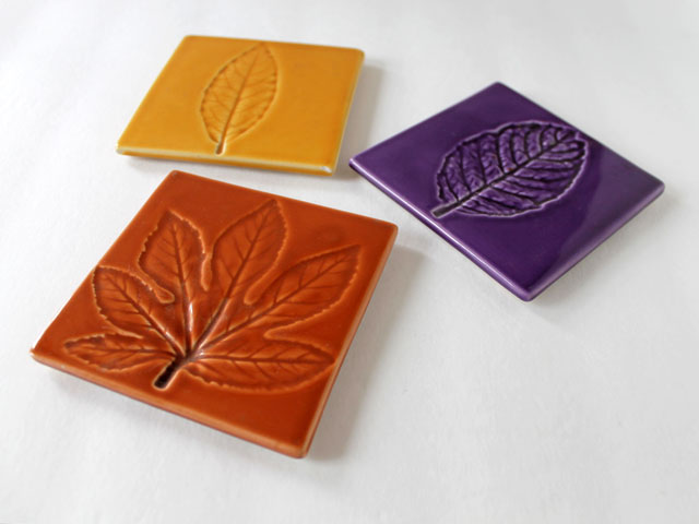 thrifted crate and barrel ceramic coasters