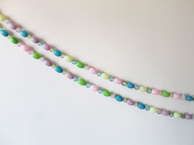 diy easter decoration handmade garland with eggs and beads
