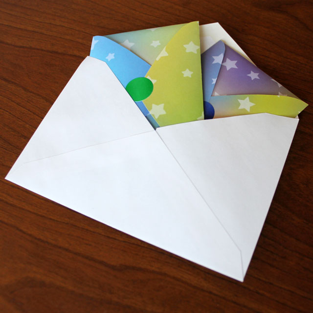 handmade easter cards ready to mail origami rabbits and a note