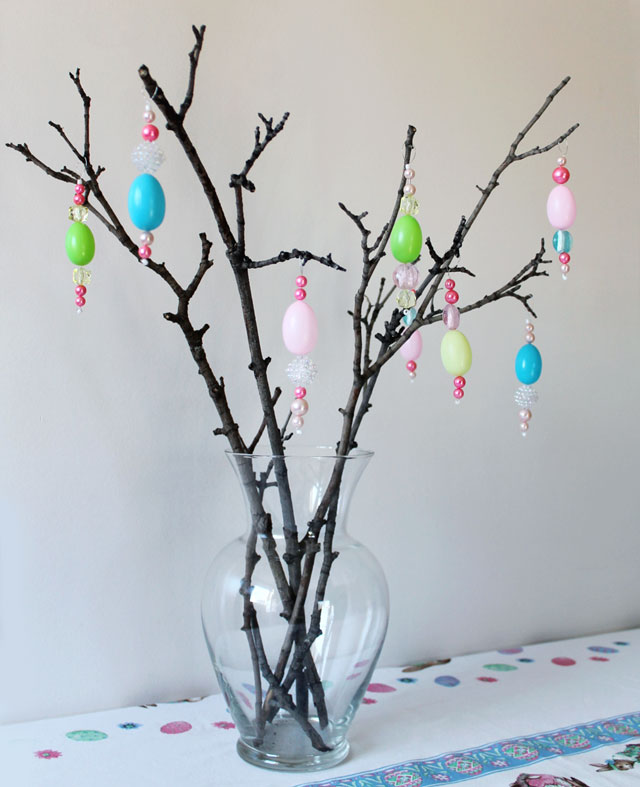 how to make easter decorations handmade hanging easter ornaments