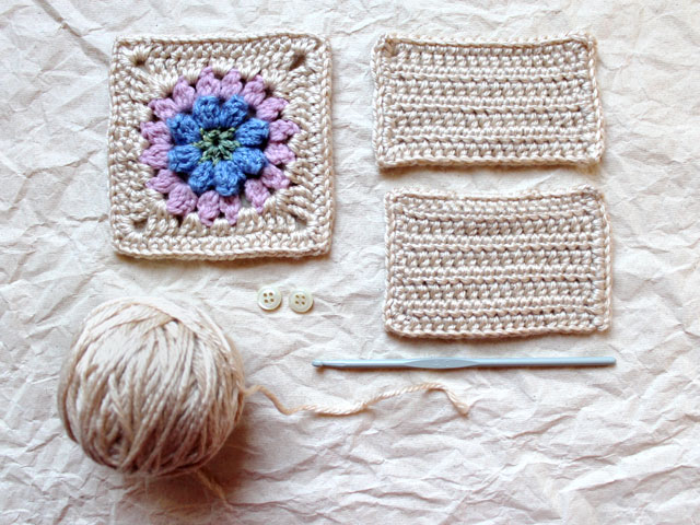 making a sachet cover with dadas place primavera flower granny square crochet