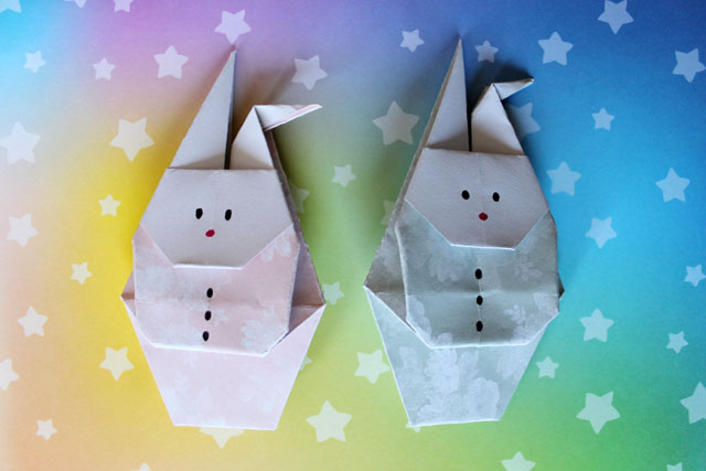 origami rabbits to mail making envelopes