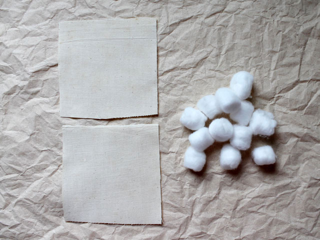 supplies to make inner cushion for reusable sachet