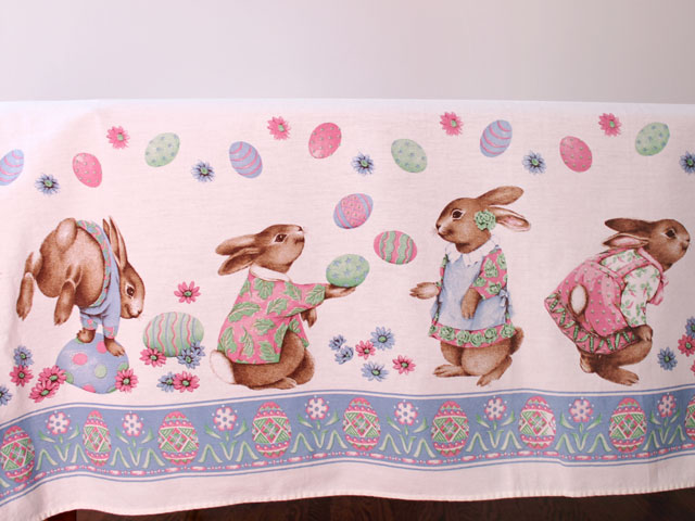 vintage easter tablecloth